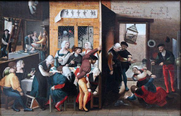 1537 Braunschweiger Monogrammist Bordellszene