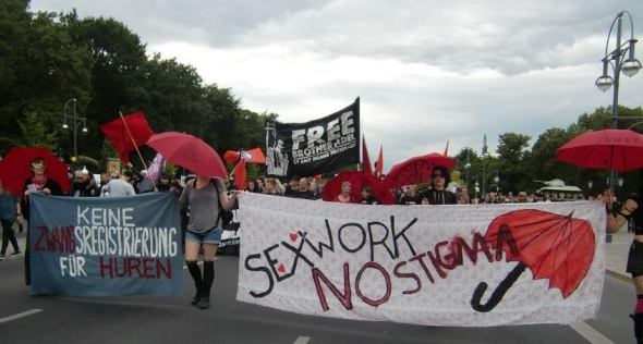 Sex worker protest in Berlin - Photo by Hydra e.V.