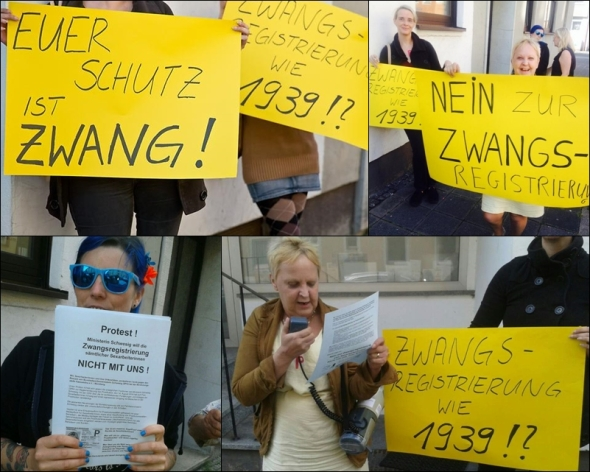 Protest  in Nuremberg against Manuela Schwesig - Photos by Voice4Sexworkers
